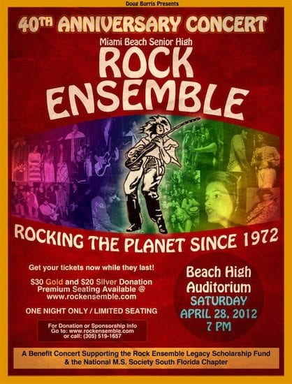 Rock Ensemble 40th Anniversary Poster