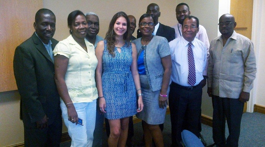 Pictured above, a delegation of officials from Haiti following their meeting in North Miami Beach with Allison Novack of 1308 Productions.