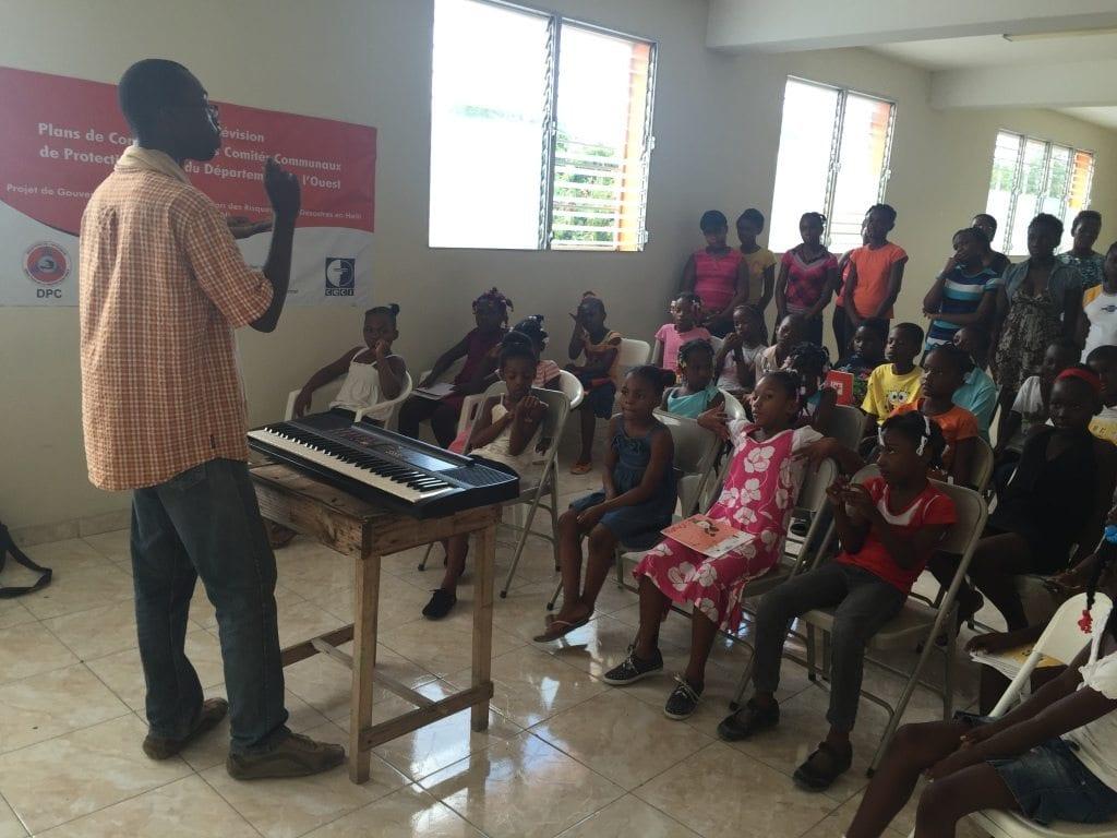 Haiti music class